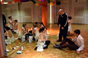 Auftrittsvorbereitungen Tanzschule Fiedler Schweinfurt