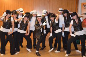 Formation Michael Jackson Tanzschule Fiedler Schweinfurt