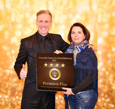 Zertifikat Premium Plus Tanzschule Fiedler in Schweinfurt